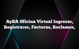 AySA Oficina Virtual Ingresar, Registrarse, Facturas, Reclamos,