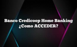 Banco Credicoop Home Banking ¿Como ACCEDER?