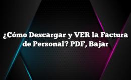 ¿Cómo Descargar y VER la Factura de Personal? PDF, Bajar