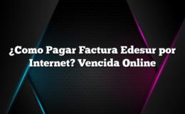 ¿Como Pagar Factura Edesur por Internet? Vencida Online