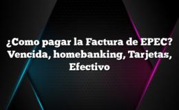 ¿Como pagar la Factura de EPEC? Vencida, homebanking, Tarjetas, Efectivo