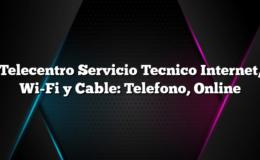 Telecentro Servicio Tecnico Internet, Wi-Fi y Cable: Telefono, Online